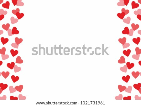 Love Background Vector With Red And Pink Hearts For Valentines Day Birthdays Or Weddings