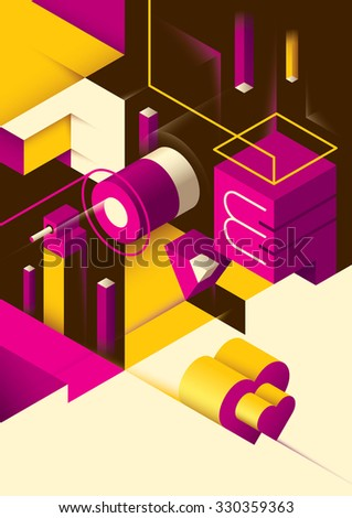 love background with isometric
