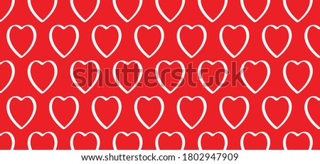 love banner with heart symbol
