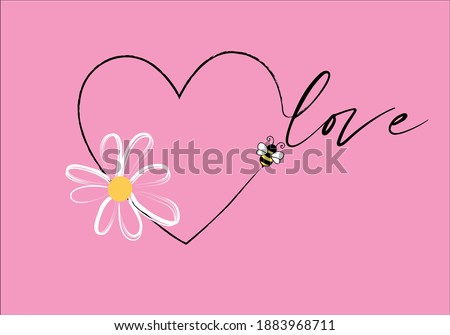 love ,bee ,daisy hand drawn design daisy seamless pattern vector design hand drawn spring daisy flower fabric towel design pattern summer print ditsy flower,spring,stationary,fabric,papern