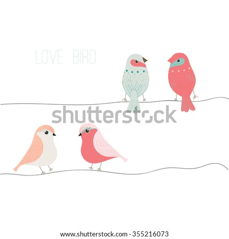love bird bird vector set bird