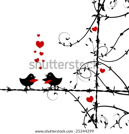 love birds pictures. stock vector : Love, irds