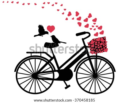 love birds on bicycle