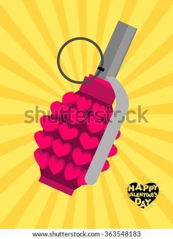 love bomb breaking pomegranate