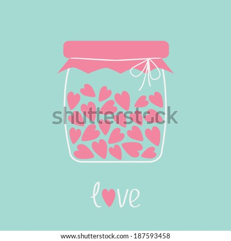 love bottle jar with pink