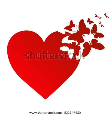 love butterfly heart