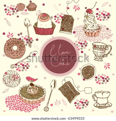 love cake background