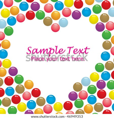 Love candies - stock vector