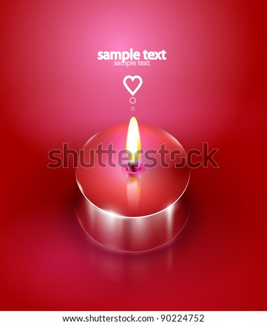 Love candle background