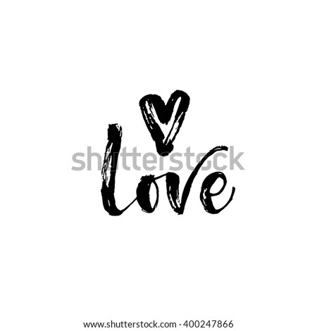 love card hand drawn lettering
