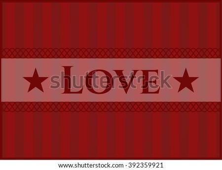 Love card with nice design