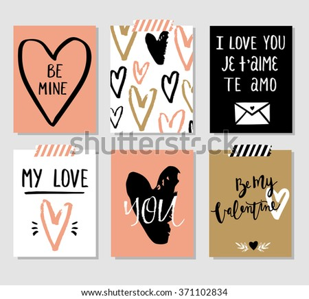 love collection with 6 cards