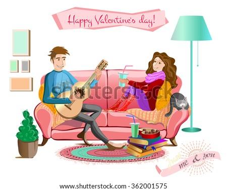 love conceptcartoon couple