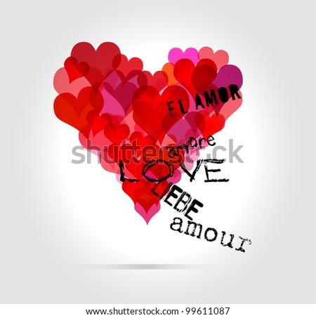love concept, heart, vector illustration