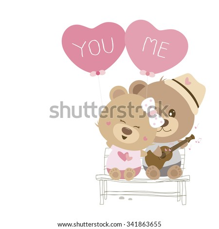 love concept of couple teddy