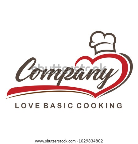 Love Cooking and Chef Logo Vector