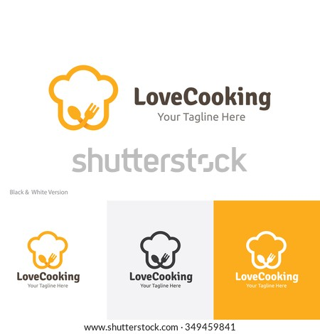Love cooking logo, Food , Restaurant vector brand identity.