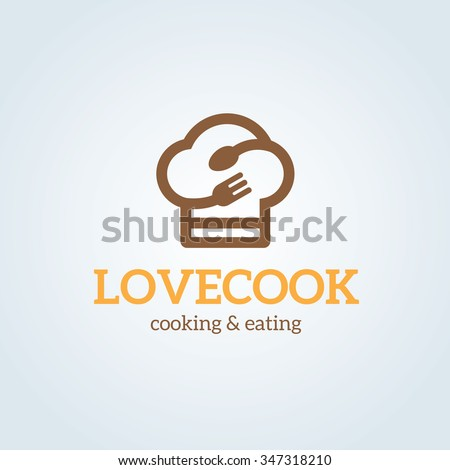 Love Cooking Logo,vector Logo template