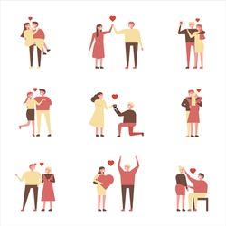 love couple character vector illustration flat design