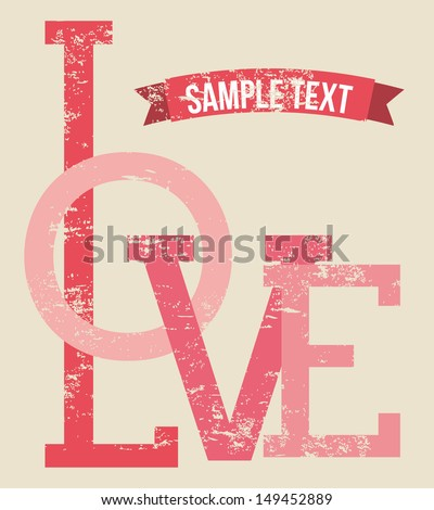 love design over pink background vector illustration