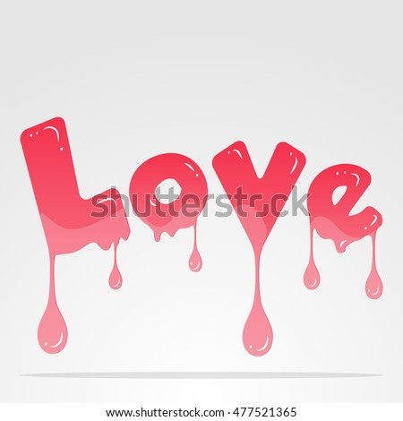 love design pink word vector