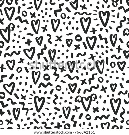 love doodle background with