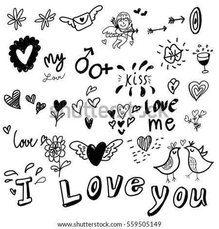 love drawing sketch vector idea