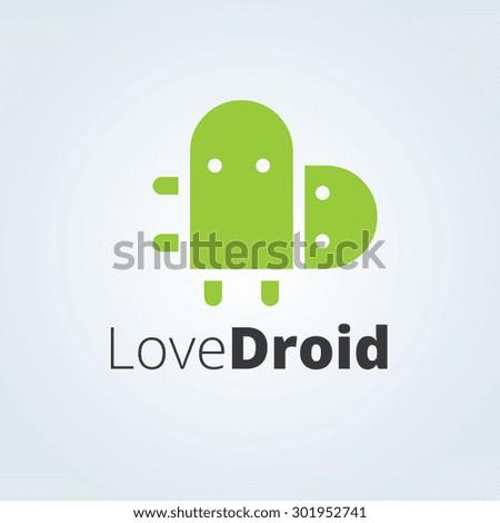 love droid vector logo template