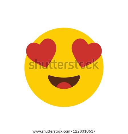 Love emoji icon design vector