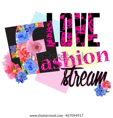 love fashion  typography