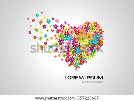 love flower heart colorful