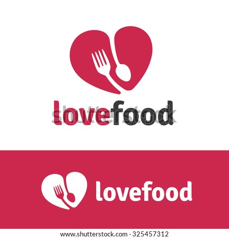 Love food,Food Logo,Vector Logo Template.