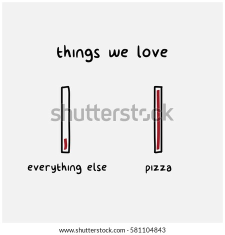 love for pizza vs everything