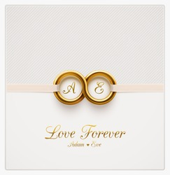 Love forever, wedding invitation, eps 10