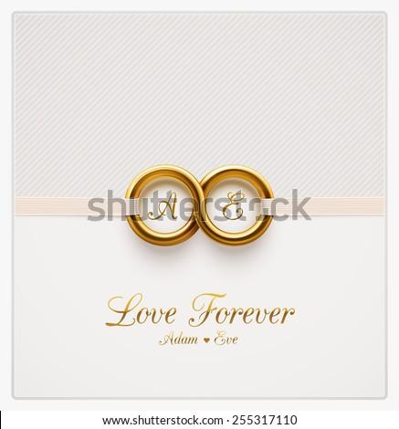 Love forever, wedding invitation, eps 10