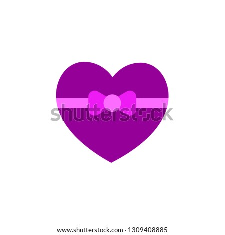 Love gift icon. Element of Valentine day icon for mobile concept and web apps. Detailed Love gift icon can be used for web and mobile