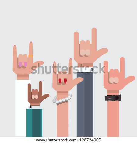 love hand sign show vector illustration