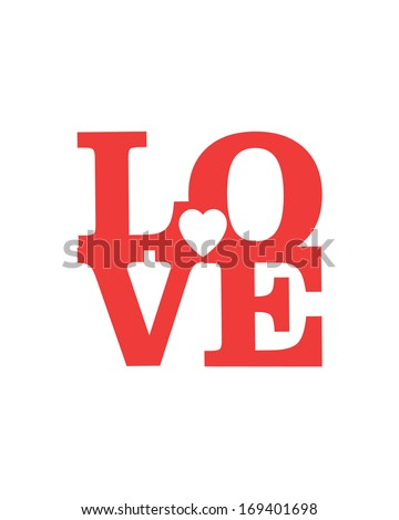 LOVE Happy Valentines day card, Font Type