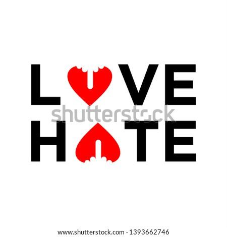 love hate logo design
