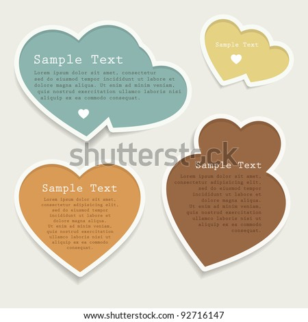 Love heart bubbles set