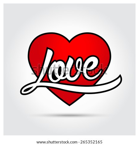 love heart calligraphy
