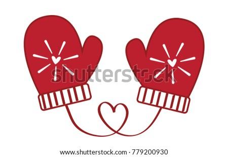 stock-vector-love-heart-christmas-mittens