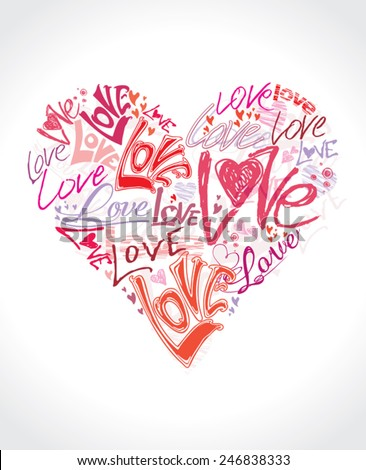 love heart conceptual symbol