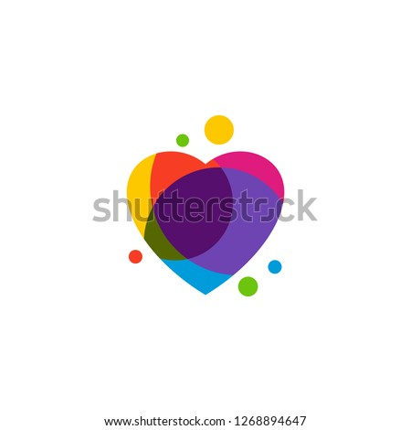 love heart creative logo