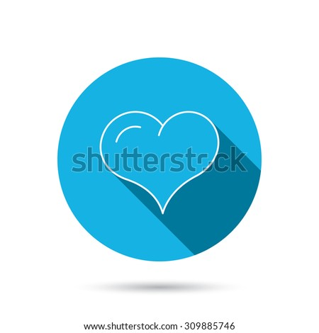 love heart icon life sign