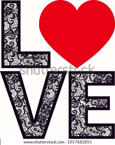 love heart lace