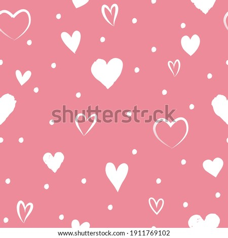 Love heart tiling backdrop. Romantic seamless pattern with hearts. Love Valentine's day seamless background.