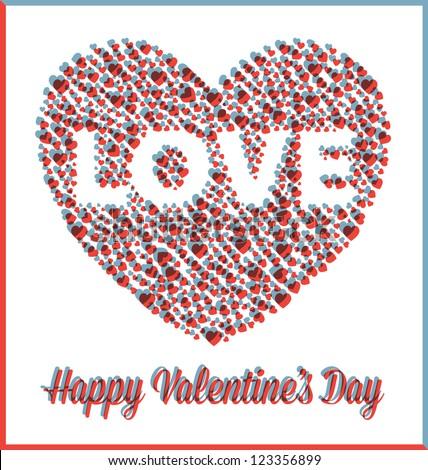 love heart valentine's day card