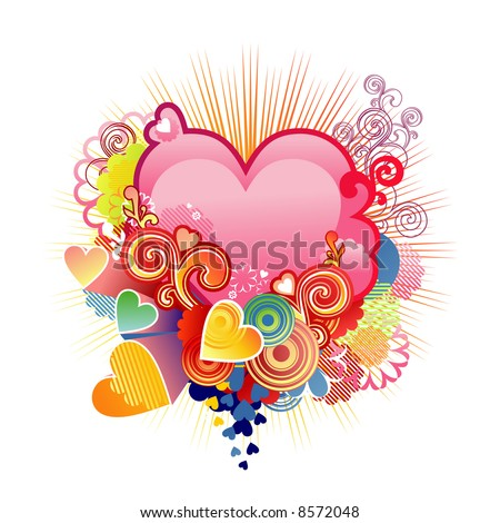 love heart for valentine. stock vector : Love heart