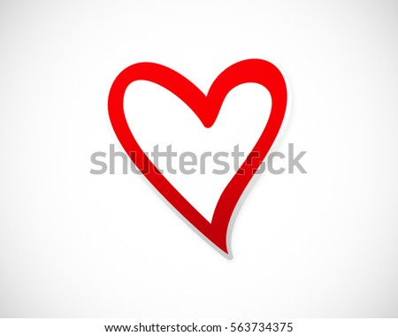 love heart valentine vector logo abstract
